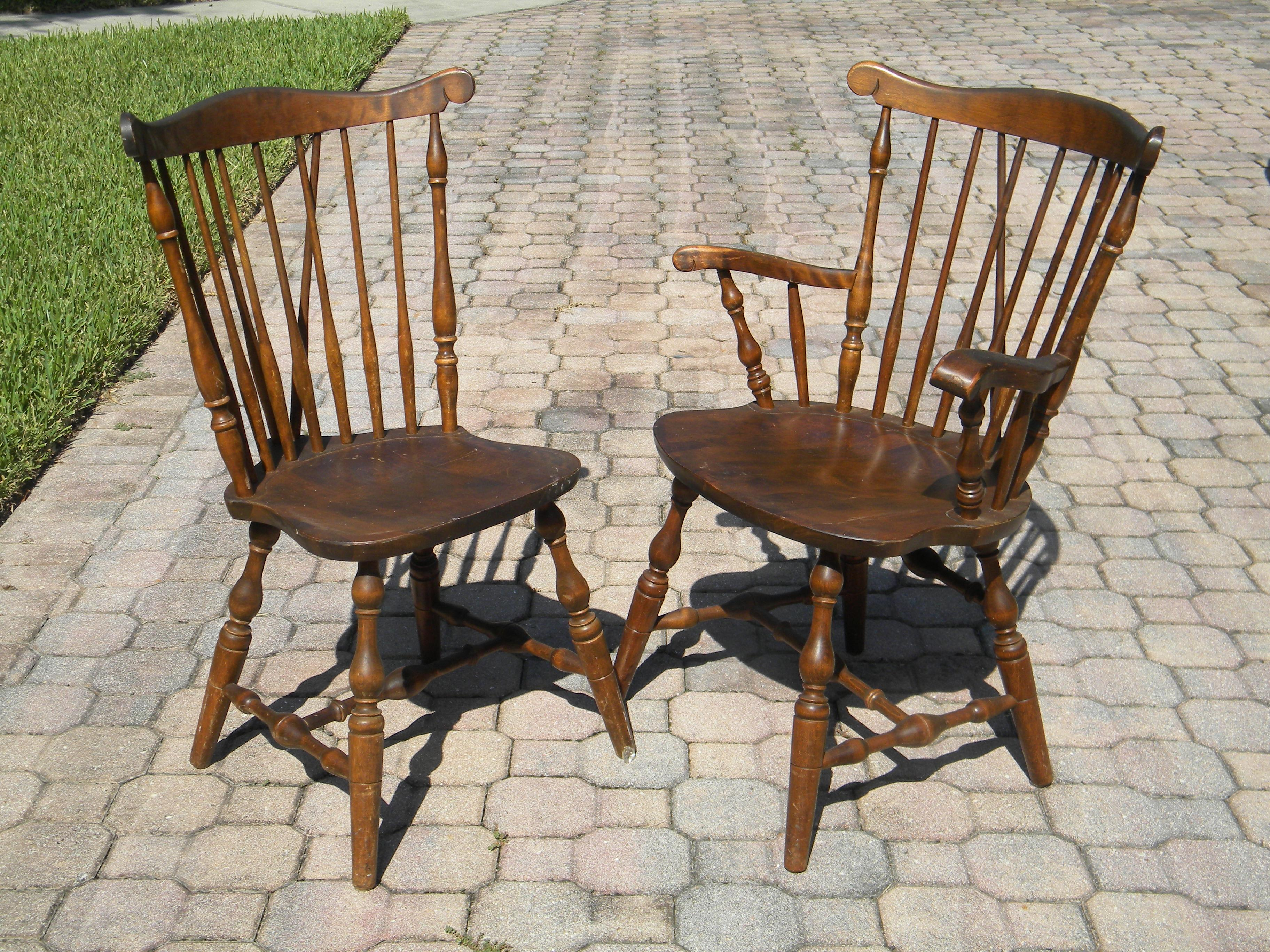 S.Bent U0026 Bros Colonial Dining Chairs   Set Of 6   Image 2 Of