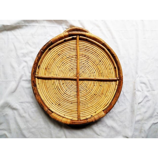 Image of Vintage Rattan Tray