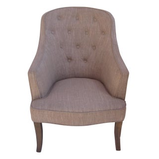 Simple Accent Chair with Textured Upholstery
