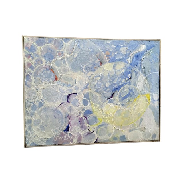 Image of Vintage 1970s Bubbles Painting