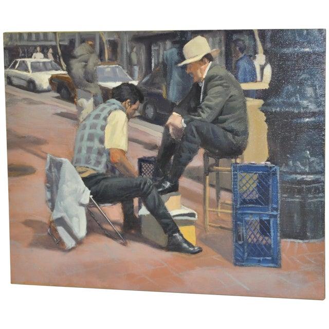 Image of Jason Ethington Shoe Shine Painting