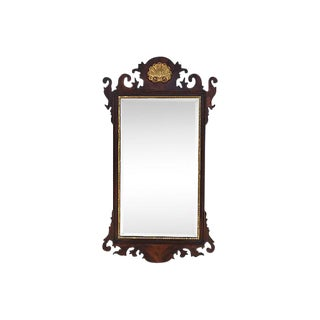 Circa 1950s Federal Style Wall Mirror w/ Gold Medallion