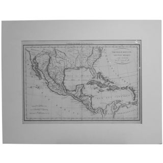 Vaugondy 1812 Southeast America, Caribbean & Mexico Map