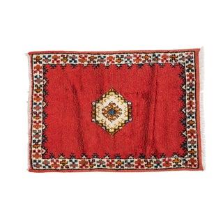 Red Berber Small Rug - 2′4″ × 3′4″