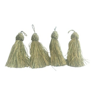 Metallic Green Tassels - Set of 4