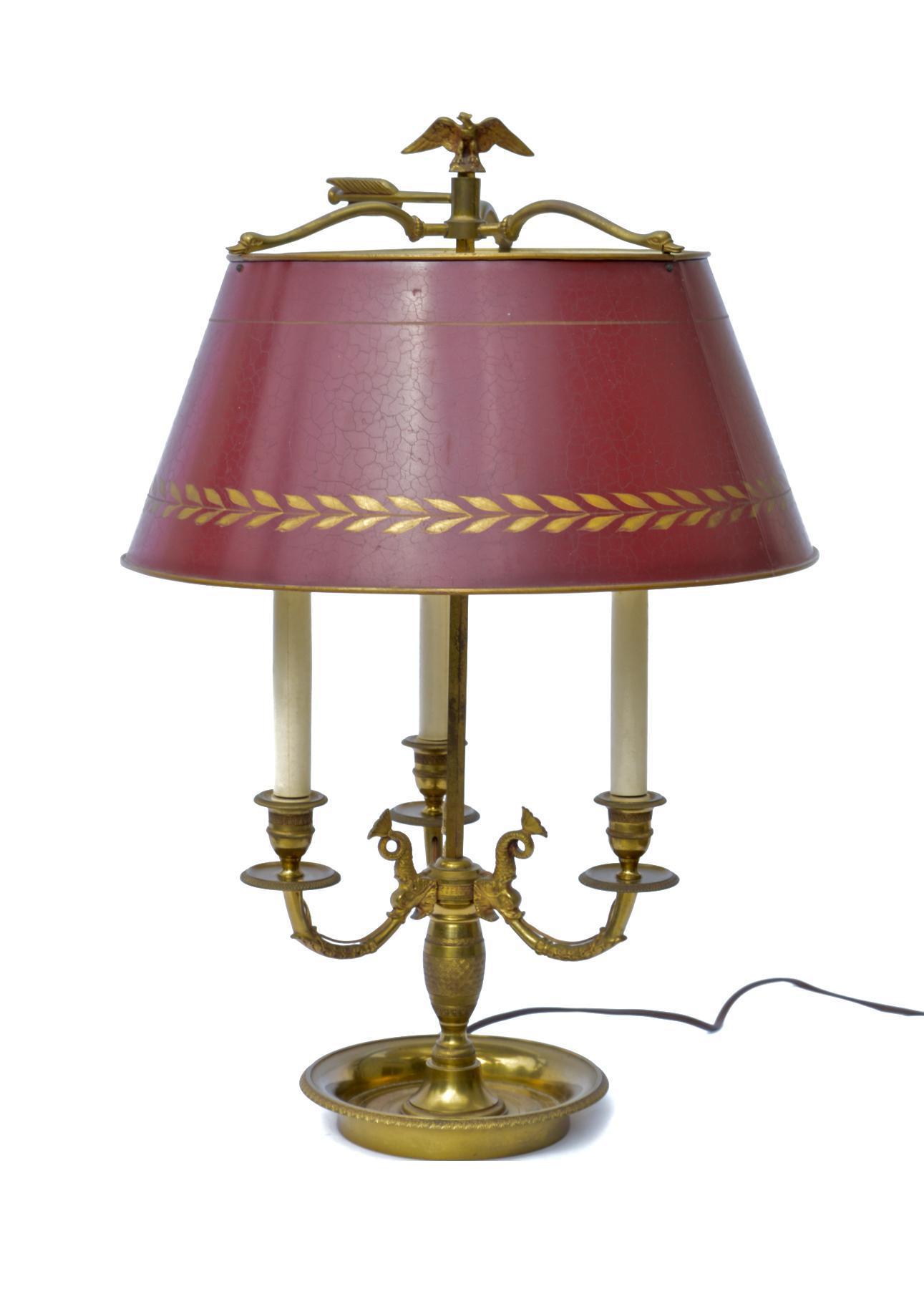 French Empire Bouillotte Lamp