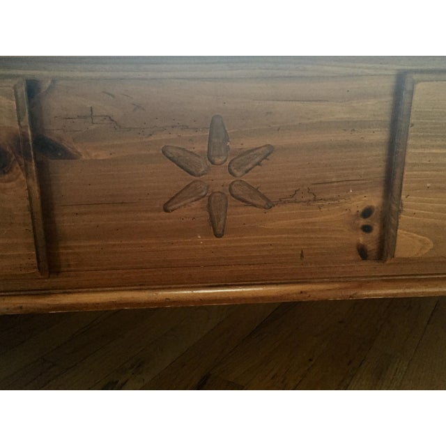 %name Ethan Allen Pine Coffee Table