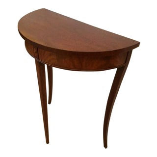 Mahogany & Satinwood Inlay Demilune Console Table