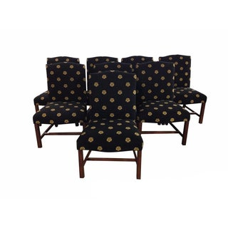 Edward Ferrell Ltd Needlepoint Dining Chairs - S/8