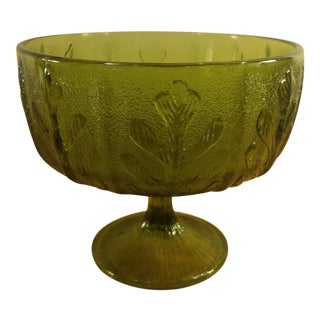 FTD Oak Leaf Green Pedestal Candy Dish