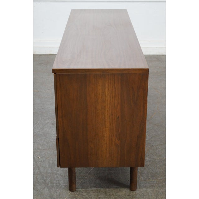 Stanley Mid Century Modern Walnut Paul McCobb Style Dresser - Image 3 of 10
