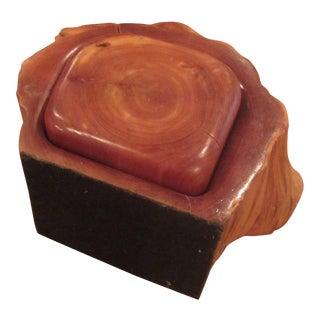 Vintage Cedar Wood Jewelry Box