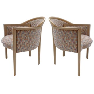 French Art Deco Upholstered Chairs - A Pair