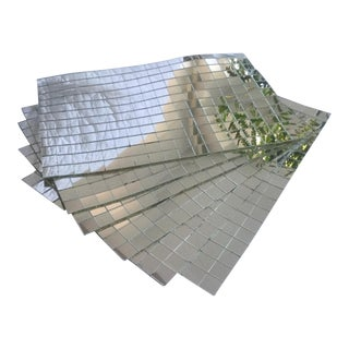 Vintage Mirrored Placemats - Set of 6