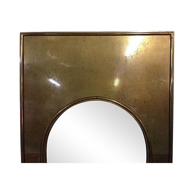 1970s Solid Brass Arched Framed Mirror - Image 2 of 4