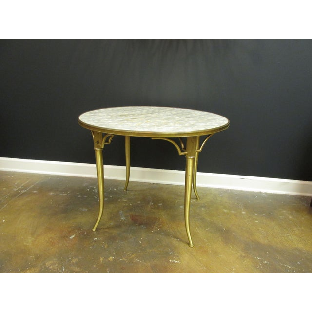 Vintage Billy Haines Capiz Shell Side Table - Image 2 of 5
