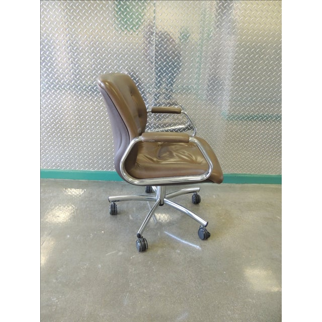 Steelcase Mid-Century Brown Office Chair - Image 3 of 3