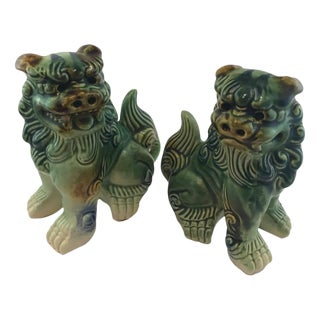 Chinese ShiShi Lions Dragons - A Pair