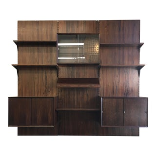 1960's Danish Modern Rosewood Cado Wall Unit