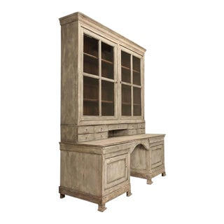 Antique French Bookcase & Desk