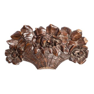 CARVED ENGLISH FLOWER BASKET