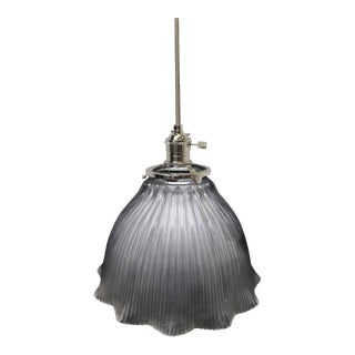 Holophane Original Ribbed Pendant Glass Shade