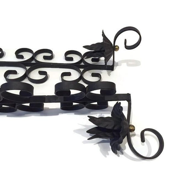 Image of Midcentury Metal Scroll Wall Candle Holders - Pair