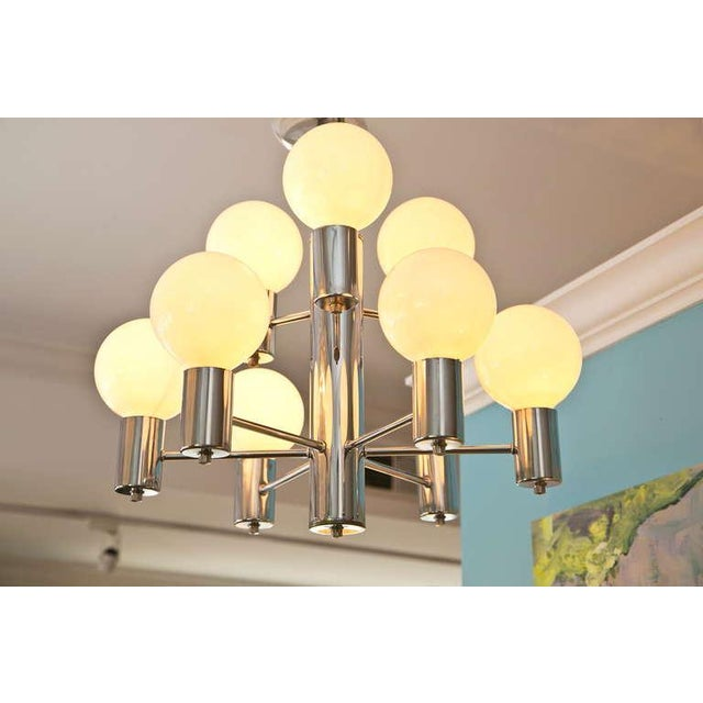 Mid-Century Modern Chrome Chandelier - Image 2 of 6