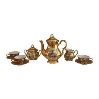 Bavarian 22kt Waldershof Tea Set