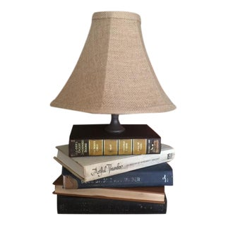 Vintage Stacked Book Lamp