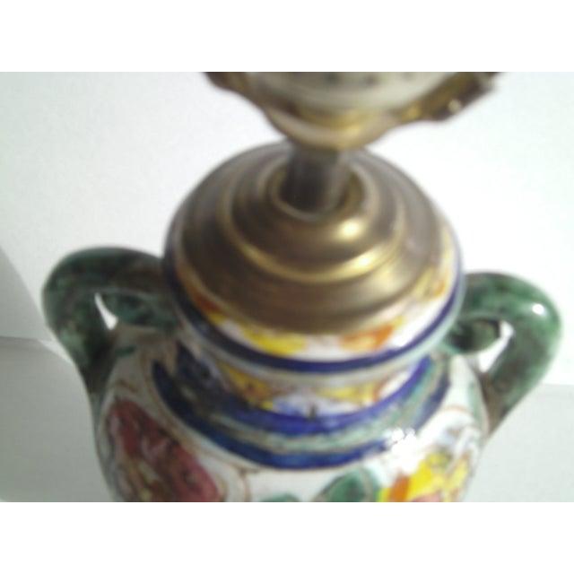 Early Mid-Century Italian Pottery Lamp - Image 7 of 9