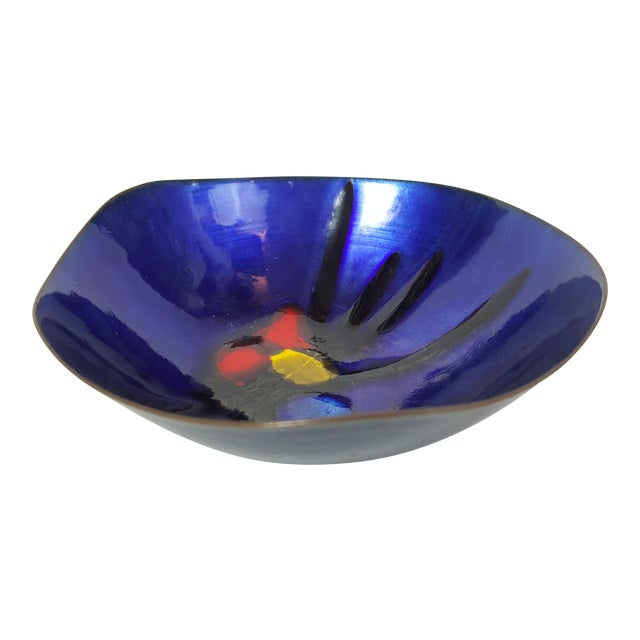 Image of Cobalt Enamel and Copper 'Lovecup'
