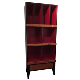 Vintage Black & Red Draper Cabinet