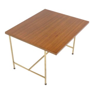 Paul McCobb Occasional Table with Brass Frame and Cantilevered Top