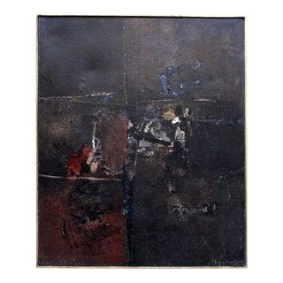 Yiannis Spyropoulos Mid-Century Multi-Media Painting