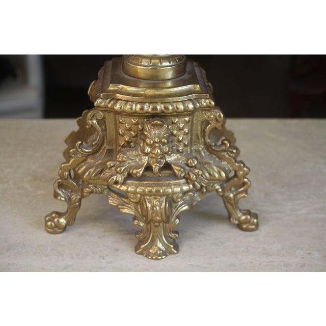 Baroque Italian Bronze Candelabras - A Pair - Image 6 of 10