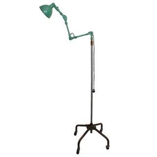Vintage Rolling Industrial Floor Lamp, Adjustable