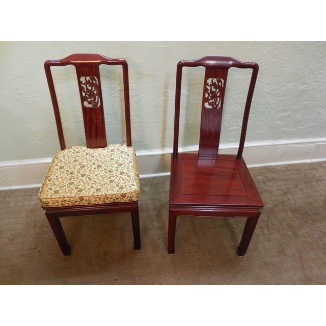Chinese Rosewood Oriental Style Dining Chairs - 10 - Image 8 of 10