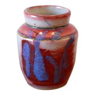 Multi Colored Handmade Studio Pottery Ceramic Vessel