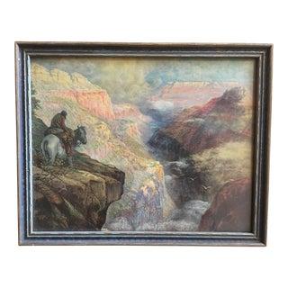 Vintage Framed Grand Canyon Western Print