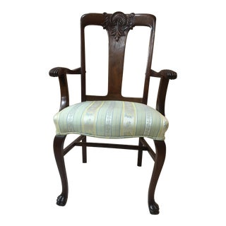 1920's Queen Anne Furry Foot Dining Room Chair