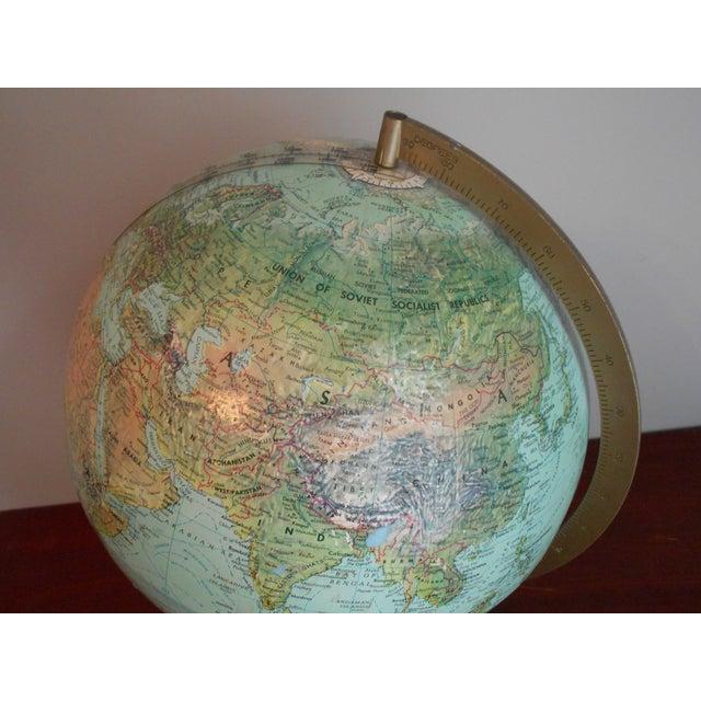 Mid-Century Relief Globe - Image 5 of 8