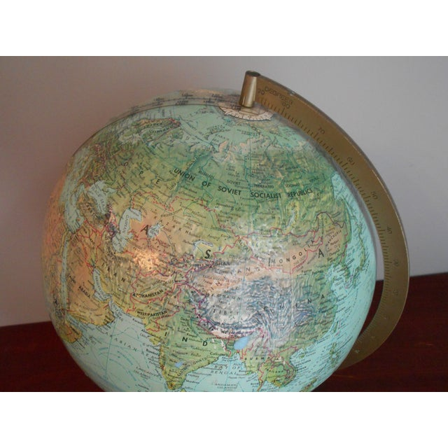 Image of Mid-Century Relief Globe
