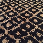 Image of Hand-Knotted Gold and Black Rug - 5' x 8'