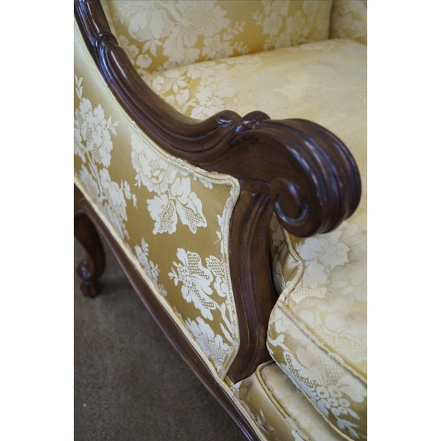 Louis XV Carved Walnut Wing Chair - Image 6 of 10