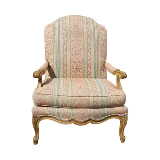 French Country Carved Wood Arm Chair by Century