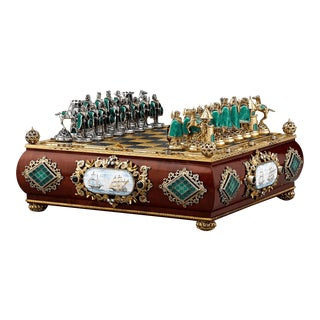 Austro-Hungarian Silver Gilt And Enamel Chess Set