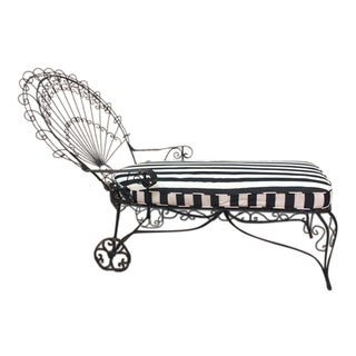 Iron Peacock Chaise
