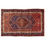 """Image of Vintage Red & Blue Persian Rug - 4'11"""" x 7'10"""""""