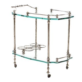Exquisite French Art Deco Wrought Iron Bar Cart
